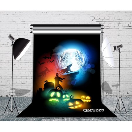 GreenDecor Polyster 5x7ft Halloween Night Escape Photography Backdrop Studio Background Photo Backdrops Studio Props - Halloween Escape
