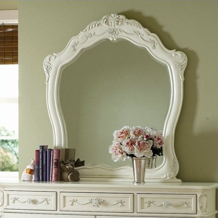 Trent Home Cinderella Mirror in Ecru Finish