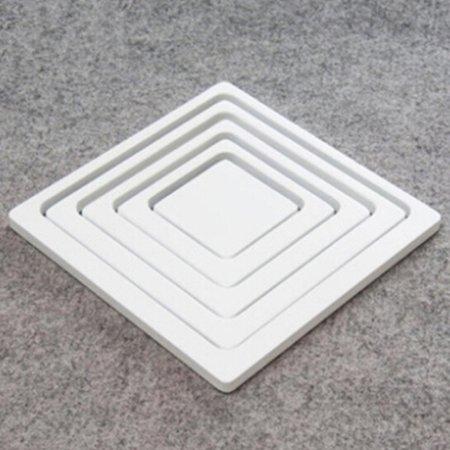 Photo Quality Self Adhesive - 5Pcs DIY White Picture Frame Photo Frame Self Adhesive Wooden Wall Sticker for Home Decor