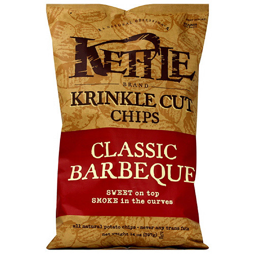 Kettle Brand Krinkle Cut Barbecue Potato Chips, 14 oz (Pack of 10)
