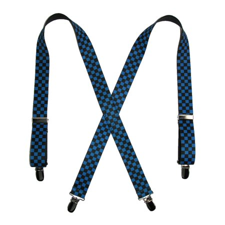 Size one size Kid's Elastic Clip-End 1 Inch Checkered Suspenders (Boys Checkered Suspenders)