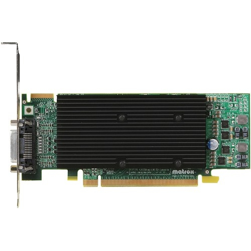 """Matrox M9120-E512LPUF Matrox M9120 Graphic Card - 512 MB DDR2 SDRAM - PCI Express x16 - 2048 x 1536 - DirectX 9.0, OpenGL 2.0 - 1 x Total Number of DVI - 2 x Monitors Supported"""