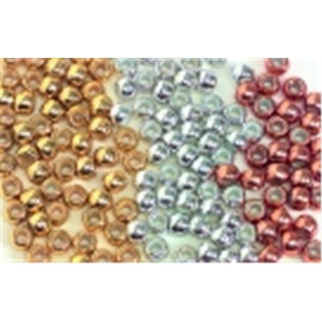 School Smart Pony Bead, Gold/Silver/Copper, Pack of 500