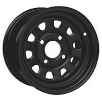 4/110 ITP Steel Wheel 12x7 2.0 + 5.0 Black for Kymco MXU 500 2010-2014