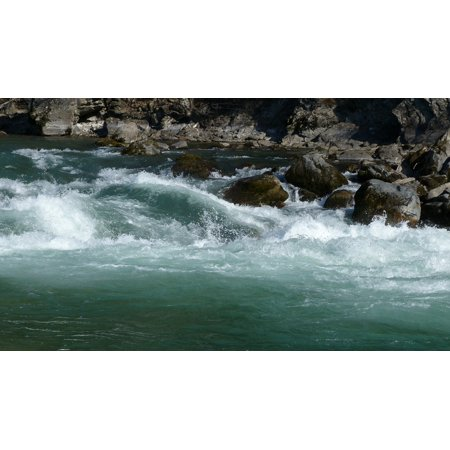 Whirlpool Water Courses Current Waves River Nature Poster Print 24 x (Course Wave)