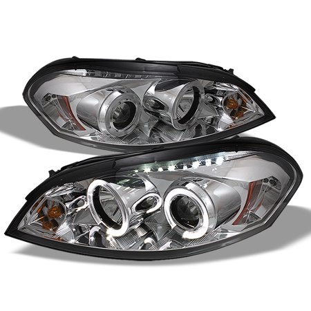 Fits 2006-2016 Impala 06-07 Monte Carlo Halo Projector LED Headlights sets ()