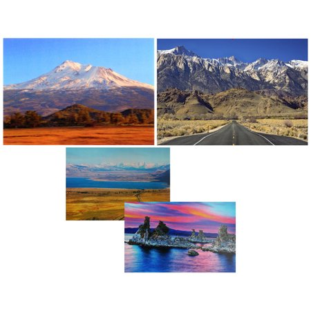 California Scenic - 3 Lenticular 3D Postcard Greeting Cards