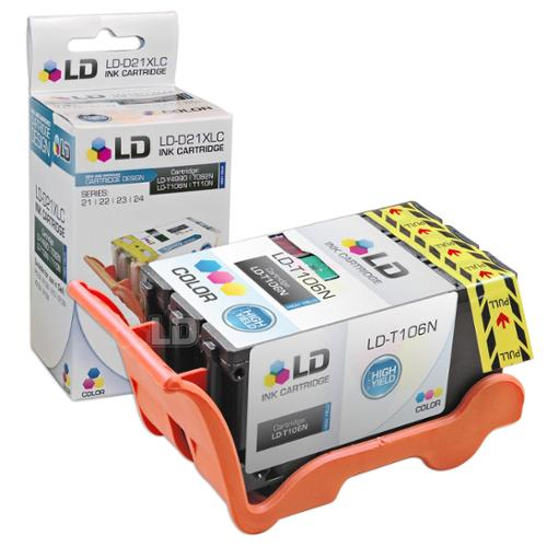 LD Compatible T106N (Series 23) High Yield Color Ink Cartridge for Dell V515w