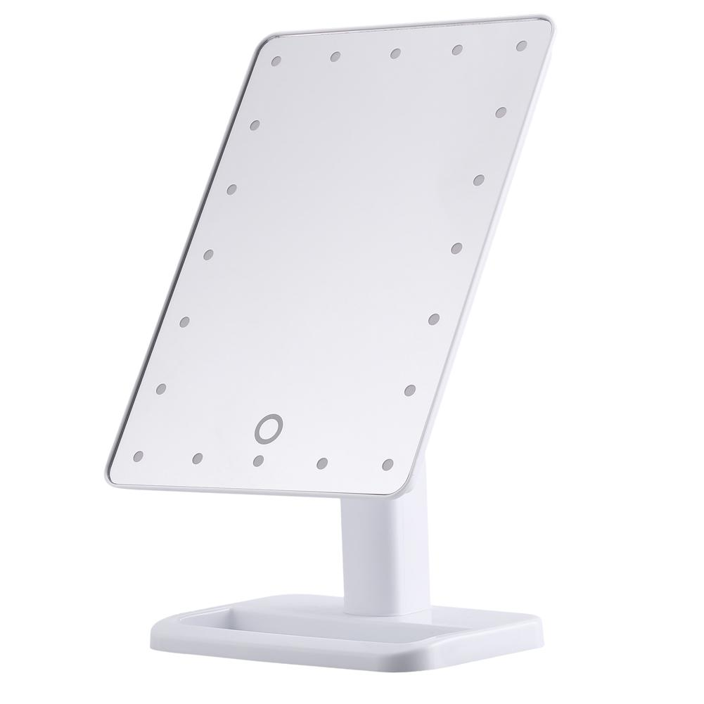 20 LED White Touch Screen Illuminated Makeup Stand Make Up Mirror Desktop Lighted Cosmetic... by TMISHION