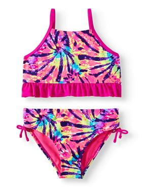 606cbb646d Product Image Tie-Dye Strap Back Bikini Swimsuit (Big Girls)