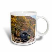 3dRose West Virginia, Cass Scenic Railroad, Steam train - US49 WBI0030 - Walter Bibikow, Ceramic Mug, 11-ounce