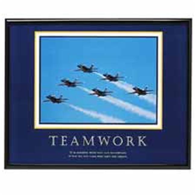 Advantus Corp.  AVT78028 Motivational Poster inchTeamworkinch- 30inchx 24inch- Black Frame