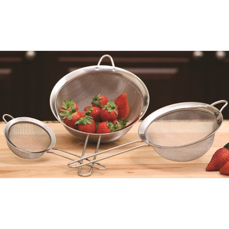 3 Piece Strainer Set - Cook Pro All Purpose 3 Piece Strainer Set