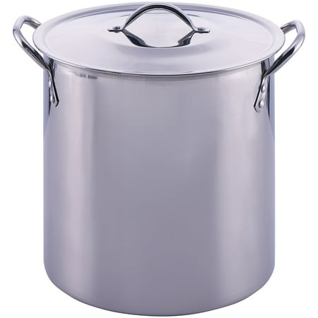 Mainstays Stainless Steel 12 Quart Stockpot with (All Clad 20 Quart Stock Pot Stainless)