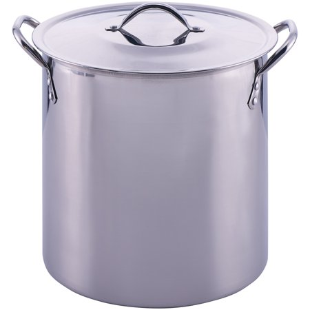Mainstays Stainless Steel 12 Quart Stockpot with Lid Burnt Stainless Steel Pot