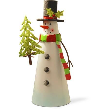 12  Metal Snowman Character