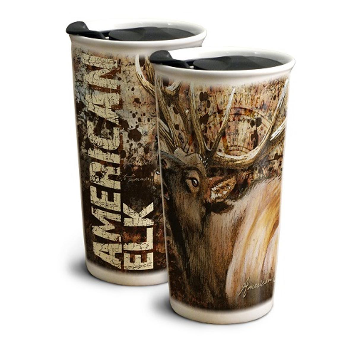 American Expedition Elk 12 oz. Ceramic Travel Mug