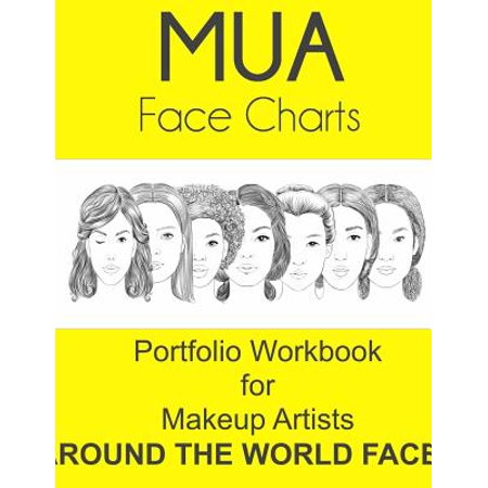 Mua Face Charts Portfolio Workbook for Makeup Artists Around the World Faces - Mac Makeup Face Charts Halloween