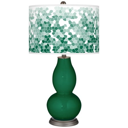 Green Double Gourd (Color + Plus Greens Mosaic Giclee Double Gourd Table Lamp)