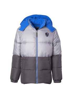 iXtreme Colorblock Puffer Jacket with Front Patch (Little Boys & Big Boys)