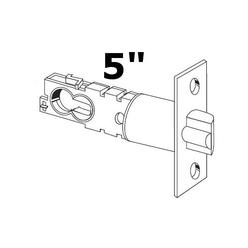 "Schlage 16-132 5"" Replacement Deadlatch with Square Corner 1 1/8"" x 2 1/4"" Facep"
