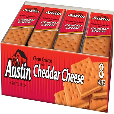 Amazon.com: Austin, Cheese Crackers With Cheddar Cheese, 6 ...  |Austin Cheddar Cheese