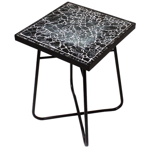 Urban Designs Cracked Black Mosaic End Table