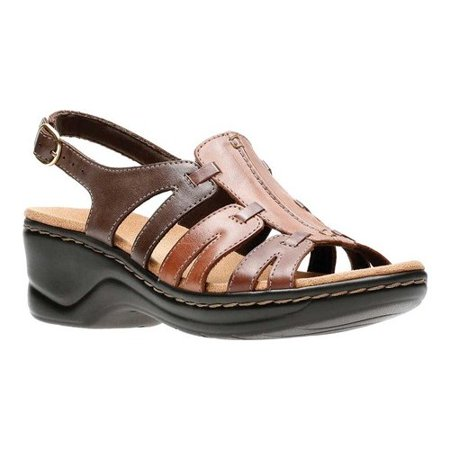 Bernardo Womens Sandals - Clarks LEXI MARIGOLD Q Womens Brown Multi Leather Open Toe Gladiator Sandals