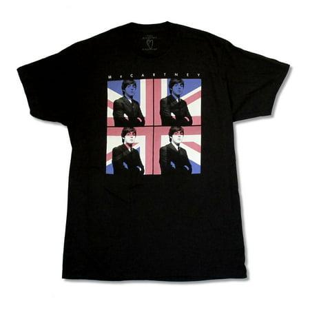 Paul McCartney Flag Tour 2015 DE-IL Black T Shirt