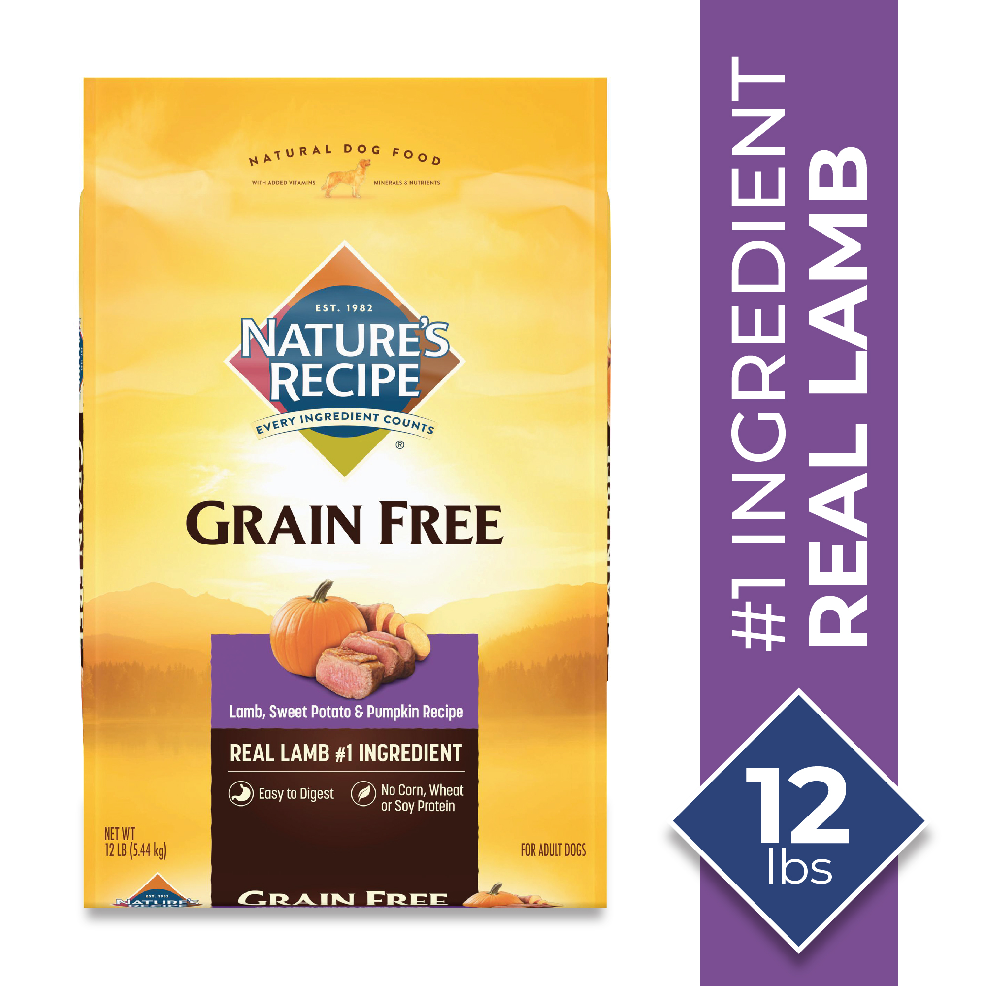Nature's Recipe Grain Free Easy To Digest Lamb, Sweet
