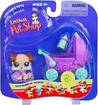 Littlest Pet Shop Portable Pets Puppy Figure [Baby Carriage]