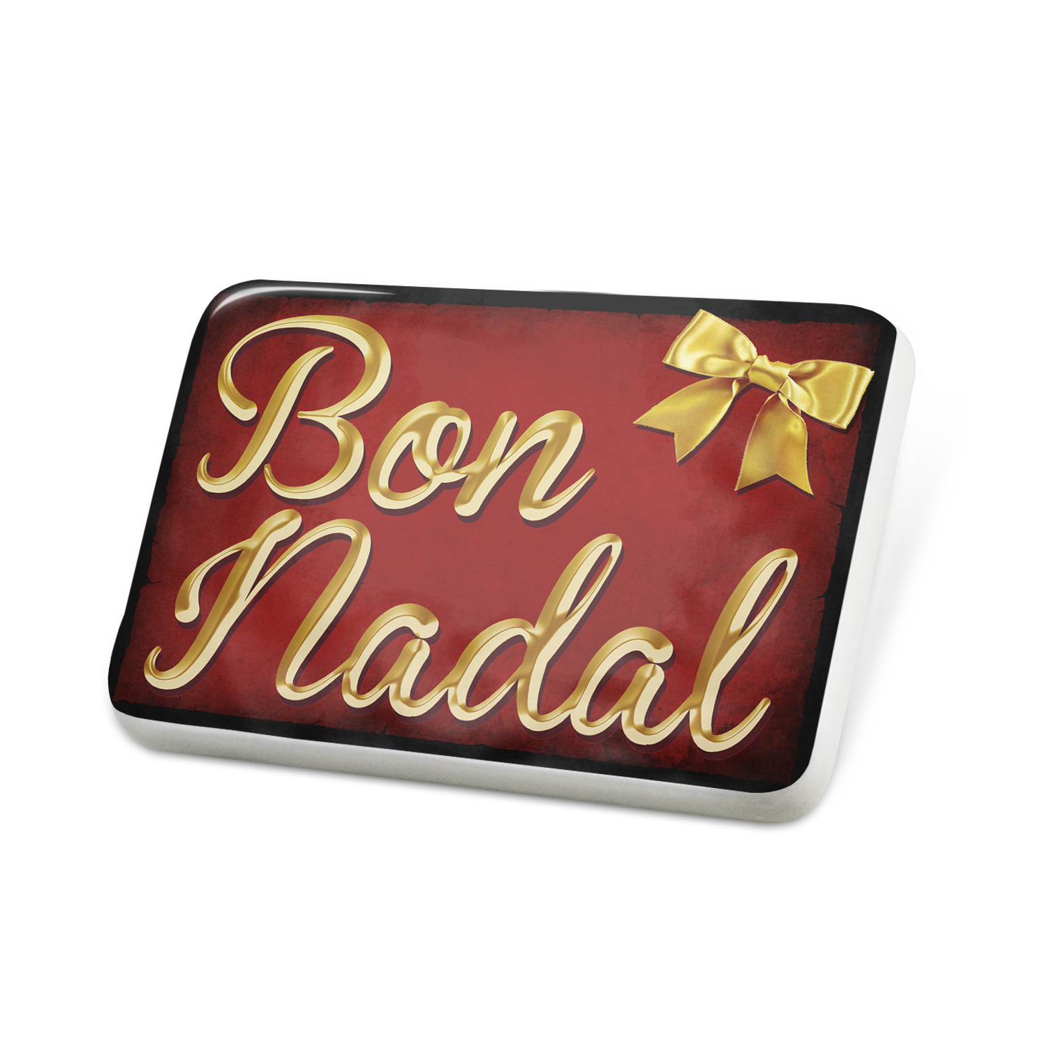 Porcelein Pin Merry Christmas in Catalan from Andorra, Spain Lapel Badge – NEONBLOND
