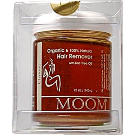 Moom Organic Hair Removal With Tea Tree Refill Jar - 12 Ounces