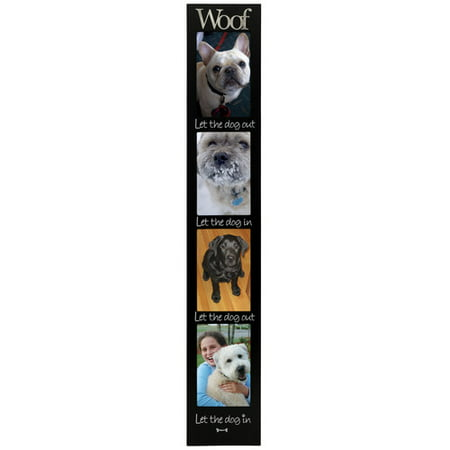 Malden Woof 4-Opening Memory Stick Picture Frame (Stick Picture Frames)