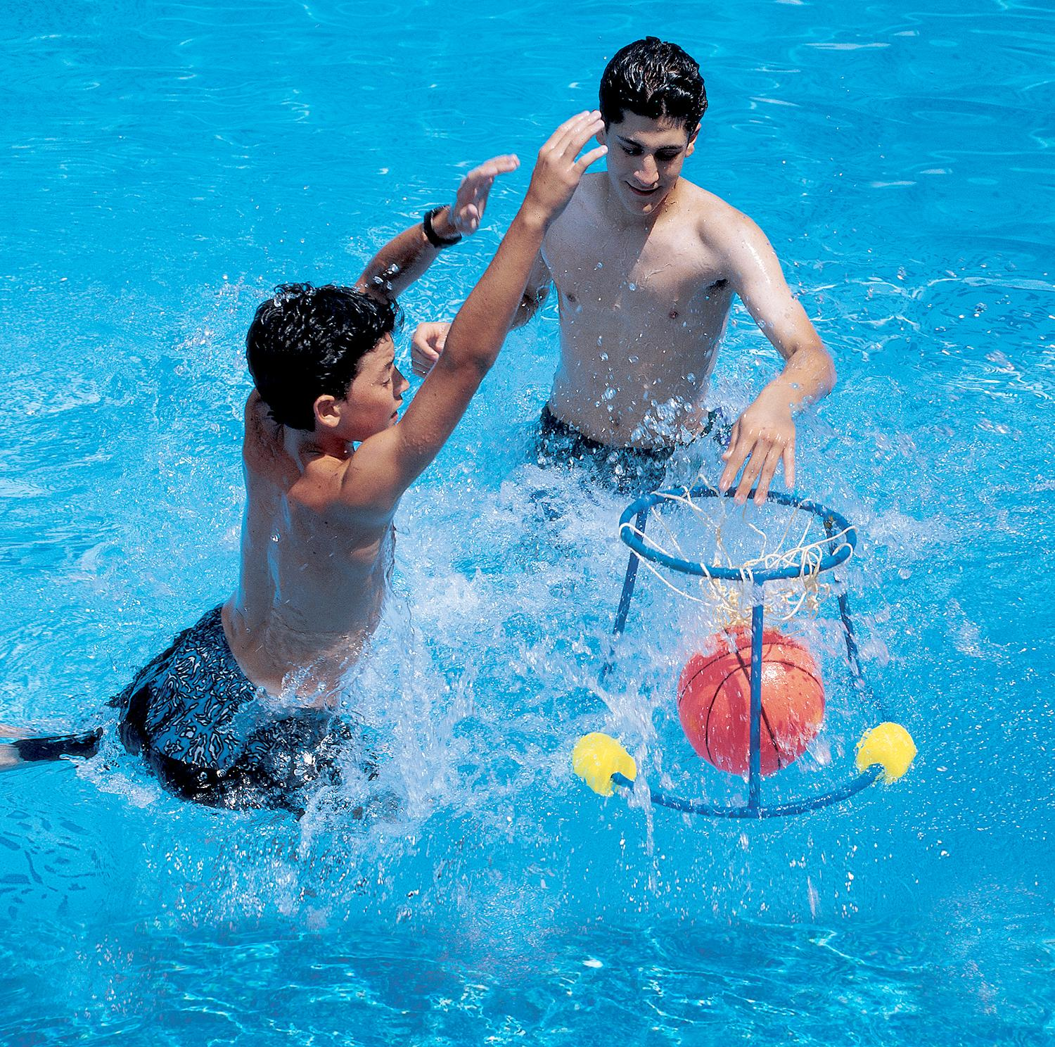 "20.5"" Water Sports Slam Dunk Swimming Pool Floating Basketball Game"