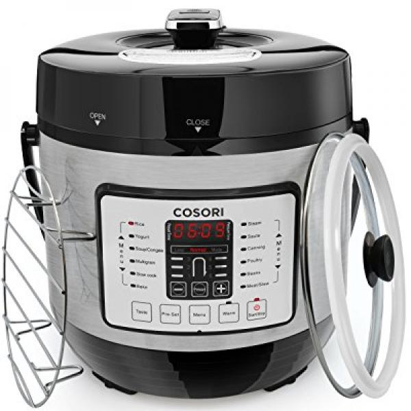 COSORI 6 Quart 7-in-1 Multi-Functional Electric Pressure Cooker, Digital Stainless Steel Steam Slow