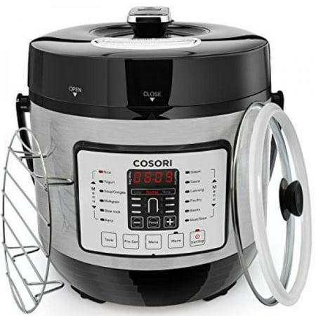 Pressure Steam Boiler - COSORI 6 Quart 7-in-1 Multi-Functional Electric Pressure Cooker, Digital Stainless Steel Steam Slow Cookware, 1000W