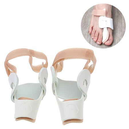 A Pair Of Adjustable Bunion Night Splint Hammertoe Corrector Brace For Big Toes Joint Hallux Valgus Pain Relief  White
