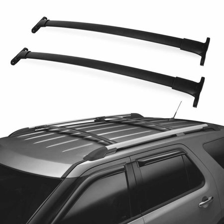 Roof Rack Cross Bars Compatible for 2016 2017 2018 2019 Ford Explorer, Aluminum Cargo Carrier Roof Luggage Rack, Carry Kayak Canoe Rooftop