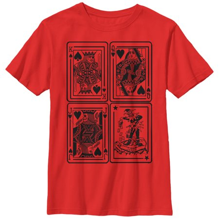 Boys' King Queen Jack Joker Playing Cards T-Shirt