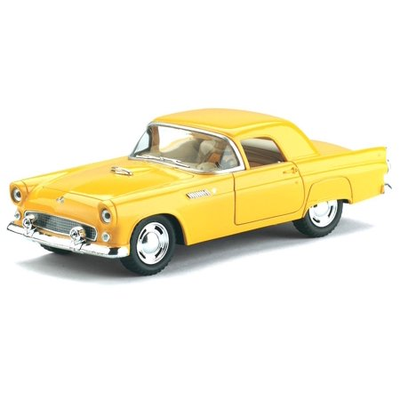 KINSMART 1:32 1955 FORD THUNDERBIRD DIECAST CAR YELLOW COLOR KT5319D NO W/B BOX ()