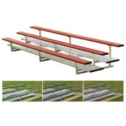 SSN NB0321CR 3 Row 21 ft. Powder Coated Bleachers, Red