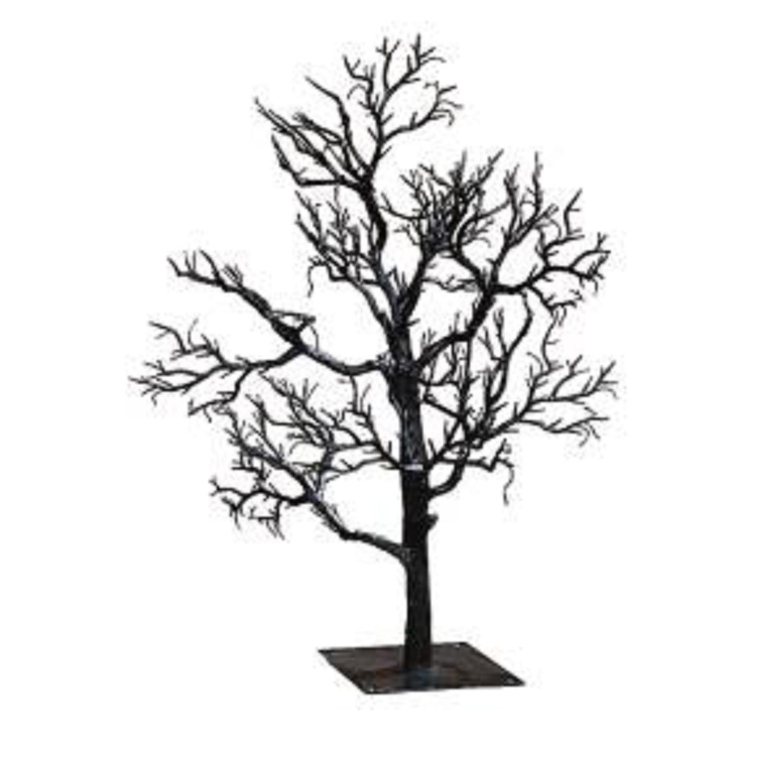 "32"" BOO...Big and Scary Black Haunted Gothic Halloween Twig Tree"