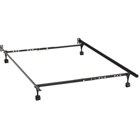bivona company full size metal bed frame with headboard footboard conversion - Full Size Metal Bed Frames