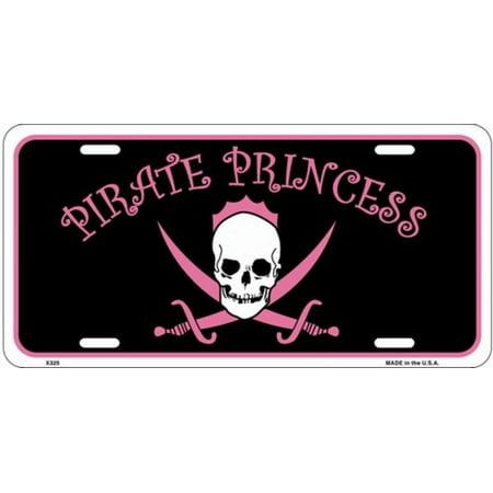 Pirate Princess License Plate - Princess And Pirate Decorations