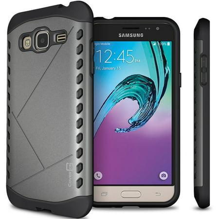 premium selection 15fa3 b6a47 CoverON Samsung Galaxy J3V / J3 (2016) / Galaxy Sol / Express Prime / Amp  Prime / J3 V Case, Paladin Series Slim Protective Phone Cover