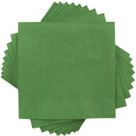 Jam Paper Bulk Lunch Napkins Medium 6 12 X 6 12 Green 600