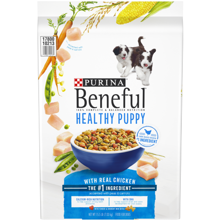 Purina Beneful Healthy Puppy With Real Chicken Dry Dog Food - 15.5 lb. (Fresh Healthy Food Snacker)