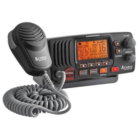 Cobra Mr F57b 25 Watt Class-d Fixed Mount Vhf Radio, Black - For Marine With Noaa All Hazard, Weather Disaster - Vhf - 10 Weather / 16/9 Instant - 25 W - Fixed Mount (mrf57b)