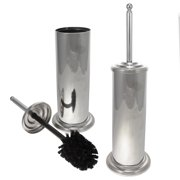 Set of2 Hawthorne Place Toilet Brushes With Holders Cleaners Set Chrome Finish Bathrooms